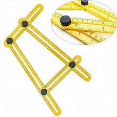 Tool Multi-Angle Ruler Angle-izer Template Tool Yellow one size