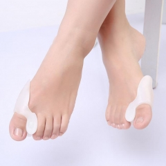 Toe  Spacers Spreaders Straightener for Men & Women 2 Pairs, White 1