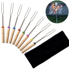 Marshmallow Roasting Sticks  Telescoping Extendable Hot Dog Smores Camping&Outdoor Cookware Kit