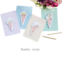 Sticky Notes Self-sticky Flower, Bookmark Page Marker Memo  Office Repost  for Students 120 Sheet muti-colors one size