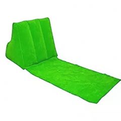 Inflatable Beach Lounge Chair Mat Air Pillow Cushion Portable Relax Couch for Camping Beach green 1
