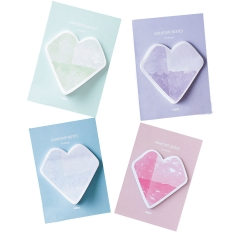Sticky Notes Self-sticky Heart Shape, Bookmark Page Marker Memo Office Repost 120 Sheet muti-colors one size