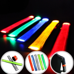 LED Slap Band Glowing Sports Arm Band Bracelet Multi-Color 5pcs for Running, Jogging, Dog Walking