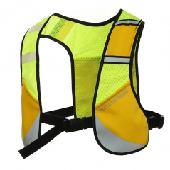 Reflective Running Vest Safety Cycling Running Dog Walking Vest Men Women with 3 Pockets 1 yellow