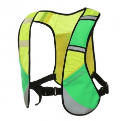 Reflective Running Vest Safety Cycling Running Dog Walking Vest Men Women with 3 Pockets 1 green