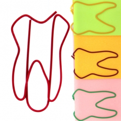 Paper Clips Teeth Shaped Clamps Letter Holder Bookmark for Art Crafts School Home Office Supplies muti-color one size