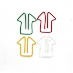Paper Clips, House Shaped Clamps Metal Bookmarks for  Office  Supplies Pack of 50 Assorted Colors muti-color one size