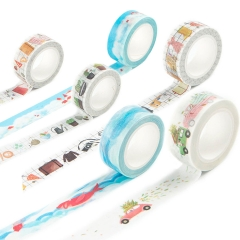 Washi Tape Set Masking Tape Art Crafty Rolls Decorate Basic Classic DIY Adhesive Paper Tape 15mmX7mm