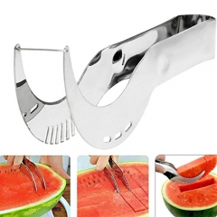 Watermelon Slicer Fruit Baller Stainless Steel Professional Kitchen Tool for Watermelon Dragon Fruit silver one size