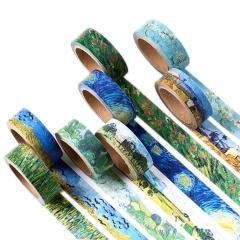 Washi Tape Set Masking Tape   Oil Painting Van Gogh Rolls Decorate DIY Adhesive Paper Tape 15mmX7mm