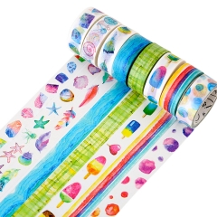 DIY Decorative Washi Tape Set Masking Tape Decorate Basic Classic Adhesive Paper Tape 15mmX7mm