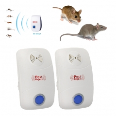 Ultrasonic Pest Repeller Electronic Pest Repellent Rejector for Mice Bug Mosquito Pack of 2 1 EU Plug