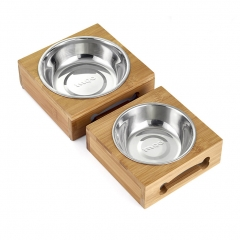 levated Dog and Cat Pet Feeder, Bowl Raised Stand Comes with Extra one Stainless Steel Bowl 2 pice 1 one size
