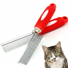 Pet Stainless Steel Grooming Comb Large Middle Dogs & Cats Shedding Comb Steel one size