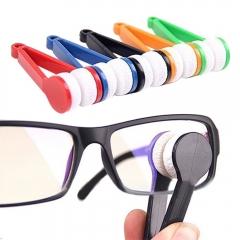 5PCS Mini Sunglasses Eyeglass Microfiber Spectacles Cleaner Brush Cleaning Tool Random Color ramdom pack of 5