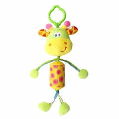 Animal Rattle Plush Soft Toy Infant Crib Hanging Developmental Toy giraffe one size