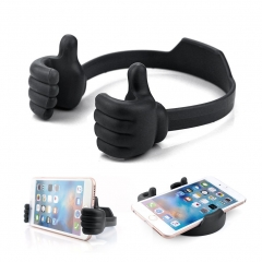 Thumbs-up Phone Stand, Silicone Adjustable Mount for Tablets Smart Phones balck one size