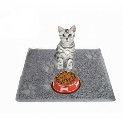 Cat Litter Mat Litter Trapper Mat Food Mat Kitty Litter Catcher Small Size 15.8''x 12'' Gray one size