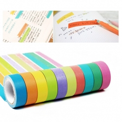 Tape Washi Masking Decorative Sticky Scrapbooking Rainbow Tape  for DIY Arts Cards muti-color one size