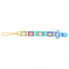 Pacifier Clip Stop Losing Baby Soothie for All Type of Pacifers,Soothers,Toy Suit square animal head one size