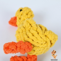 Dog Chew Toy 6'' Cotton Duck Shape for Chewing Tugging Playing yellow one size