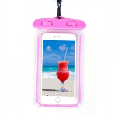 Waterproof Phone Case Dry Bag Pouch pink one size