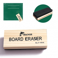 Chalkboard Eraser Wood Dustless Black Durable 1 one size