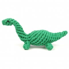 "Dog Chew Toy 10"" Cotton Dinosaur for Chewing Tugging Playing green one size"