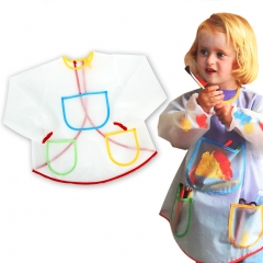Art Smock Painting Apron Waterproof Long Sleeve Art Class Crafts for Kids, Toddlers muti-color one size