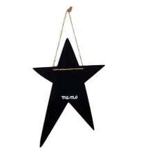 Black Mini Chalkboards for Message Board Signs, cute decoration for Weddings, Parties, cafe star 1