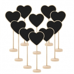 Chalkboard Mini Blackboard Heart Party Home Kitchen Décor Plant Marker with Stand 10 pieces heart 10pcs