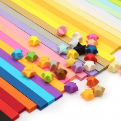 Origami Paper Stars 27 Colors,1080 Sheets Lucky Wish Star Straps Vivid Colors muti-color one size