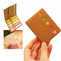 Sticky Notes Funny Memo Pad Sticker Cute Rainbow Color with Kraft Paper Cover Office Note Pad candy one size