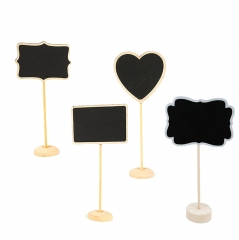 Chalkboard Mini Wooden Blackboard Sign for Message,Party,Kitchen with Stand 2.3x3.1 inch 10pcs 1 4 patterns