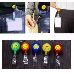 Badge Clip Retractable ID Holder Reel for Key Name Pass ID Card 10 pcs Assorted Colors smile 1