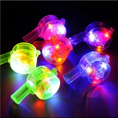 Glow Whistle Night Light Up Toy Glowing in The Dark Random Color Dice Party Favors muti-color *5
