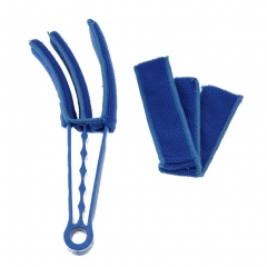 Microfiber Blind Cleaner Shutters Window Blind Vertical Blinds Air Conditioner Blinds blue one size
