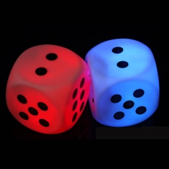 Glow Dice Night Light Up Toy Glowing in the Dark Colorful Dice Party Favors muti-color *5