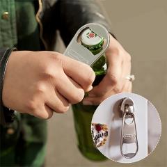 Fridge Magnet Bottle Opener Zip Refrigerator Large, Heavy Duty Stainless Steel silver one size