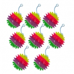 Light Up Toy Glowing Spike Hedgehog Balls Yoyo Activity Play 8pcs muti-color one size