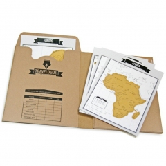 Travelogue Travel Journal Notebook with Scratch Map  of the World one color