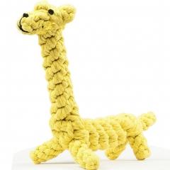 "Dog Chew Toy 11"" Cotton Giraffe for Chewing Tugging Playing 1 giraffe"