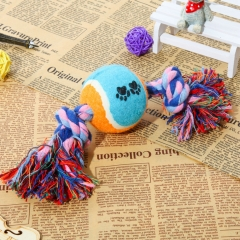 "Dog Chew Toy 10"" Cotton Rope with Ball for Chewing Tugging Playing 1 one size"