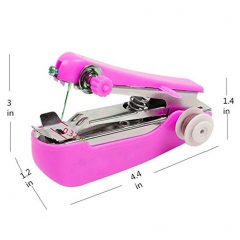 Mini Portable Sewing Handheld Machine pink one size