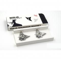 Refrigerator Magnets Ninja Throwing Dart Metal Office Letter Fridge stick with Shuriken Shape silver one size