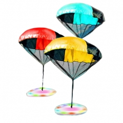 Play Parachute Toy UFO Soldier Men Flashing Light UP LED Toss Fly High Tangle-Free Parachute Toys UFO one size