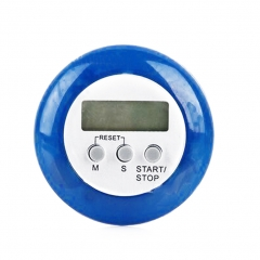 Mini Magnetic Round LCD Digital Cooking Kitchen Gadget Countdown Alarm Timer blue one size