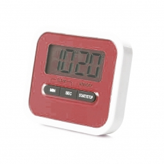 Best Digital Kitchen Timer, Digital Lound Timer with Large Screen Magnet red one size
