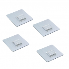 Adhesive Heavy Duty Hooks Transparent Reusable Wall Hooks 11 lb/5kg for Kitchen Bedroom 4Pcs 1 one size