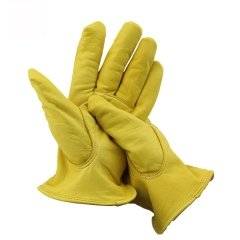 Work Gloves Suede Leather Gloves for Wood Cutting, Motorcycle, Driving, Cycling ,Welding, Heavy Duty